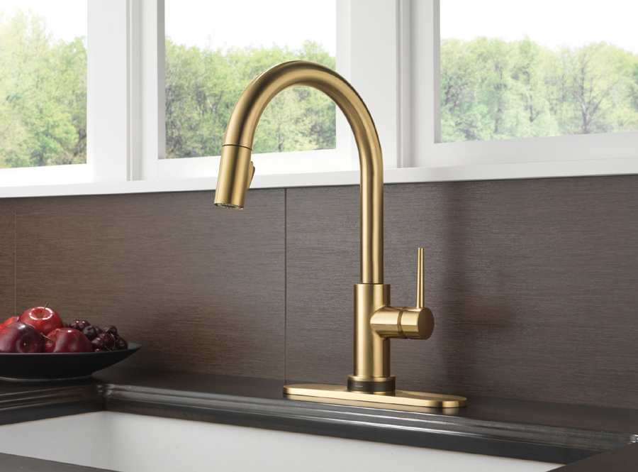 Delta Touch Kitchen Faucet >> Delta 9159T-CZ-DST Trinsic Single Handle Pull Down Kitchen Faucet Featuring Touch2O Technology ...
