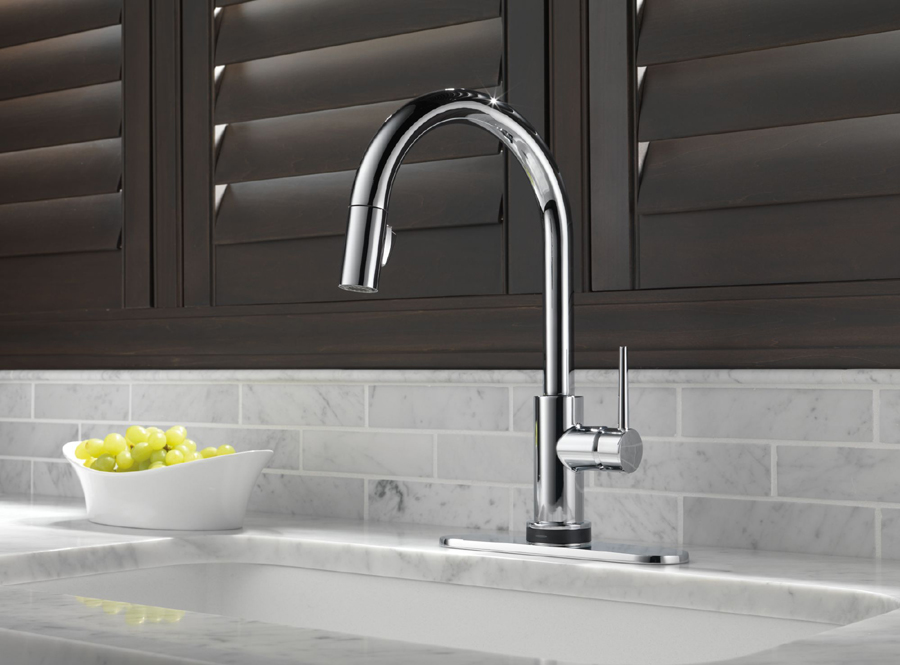 Delta 9159t Dst Trinsic Single Handle Pull Down Kitchen