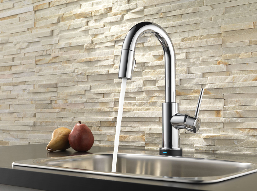 Delta 9959T-DST Trinsic Single Handle Pull-Down Bar/Prep Faucet ...