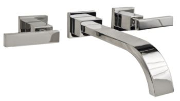 Newport Brass 3-2041-26 Secant Two Handle Wall Mount Lavatory Faucet Trim - Polished Chrome