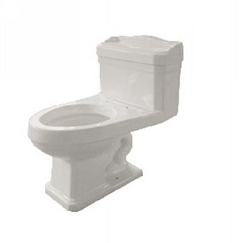 Pegasus TL-1940-EW 1940 Series One Piece Vitreous China Elongated Toilet - White