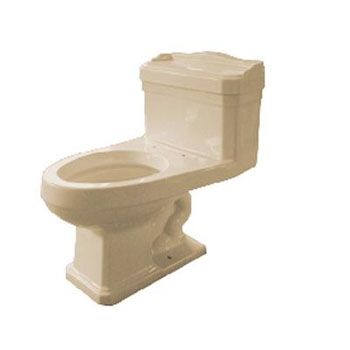 Pegasus TL-1940-EBI 1940 Series One Piece Vitreous China Elongated Toilet - Biscuit