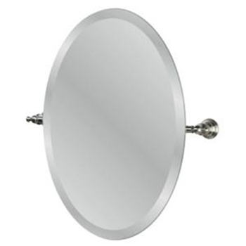 Pegasus 20720-4504 Estate Oval Mirror in Brushed Nickel