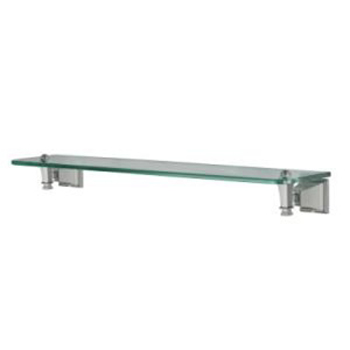 Pegasus 20714-1704 Exhibit Glass Shelf Brushed Nickel