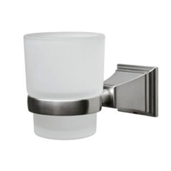 Pegasus 20714-0804 Exhibit Wall Mounted Tumbler Holder Brushed Nickel