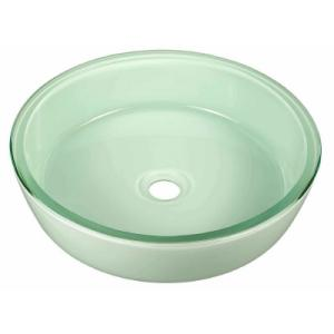 Pegasus GVF-133-WT Fused Glass Vessel Sink in White Flat Bottom