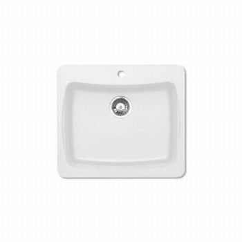 Pegasus AL10WH Granite Single Bowl Kitchen Sink in White