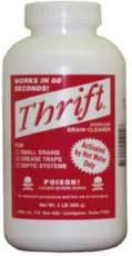 Perfecto T-100 Thrift Drain Cleaner 1LB