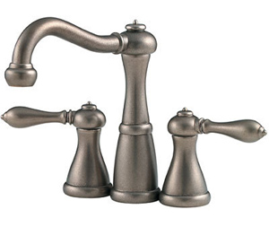Price Pfister 46M0BE Marielle Double Handle Mini Widespread Lavatory Faucet with Metal Lever Handles - Rustic Pewter
