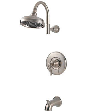 Price Pfister 808-YP0K Ashfield Single Handle Bath/Shower Faucet - Satin Nickel