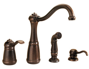 Price Pfister F-0264-NUU Marielle Single Handle Kitchen Faucet - Rustic Bronze