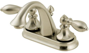 Price Pfister F-048-E0BK Catalina 4-Inch Centerset Double Handle Lavatory Faucet - Brushed Nickel