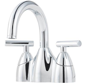 Price Pfister F-048-NC00 Contempra 4-Inch Centerset Double Handle Lavatory Faucet - Polished Chrome