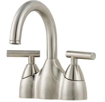 Price Pfister F-048-NK00 Contempra 4-Inch Centerset Double Handle Lavatory Faucet - Brushed Nickel