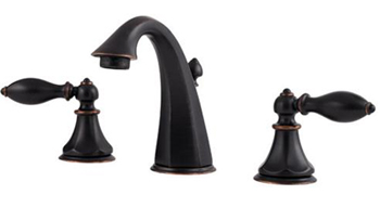 Price Pfister F-049-E0BY Catalina 3 Hole Widespread Lavatory Faucet - Tuscan Bronze
