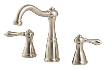 Price Pfister F-049-M0BK Marielle 3 Hole Widespread Lavatory Faucet - Brushed Nickel