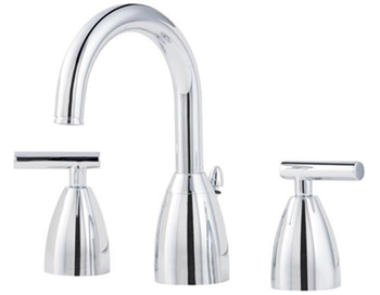 Price Pfister F-049-NC00 Contempra 3 Hole Widespread Lavatory Faucet - Polished Chrome