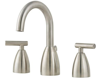 Price Pfister F-049-NK00 Contempra 3 Hole Widespread Lavatory Faucet - Brushed Nickel