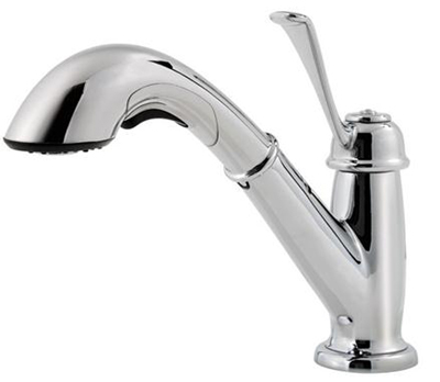 Pfister F-538-5LCS Bixby Single Control Pull Out Kitchen Faucet - Stainless Steel
