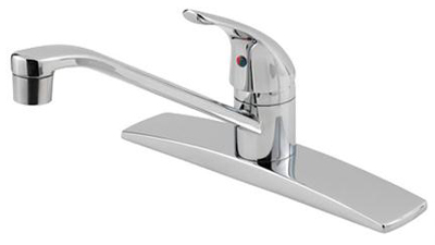 Pfister G134-1444 Pfirst Single Lever Kitchen Faucet - Polished Chrome