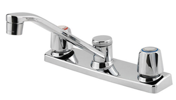 Pfister G135-1000 Pfirst Double Handle Kitchen Faucet - Polished Chrome