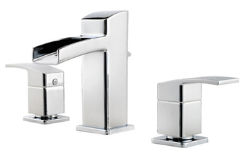 Price Pfister GT49-DF0C Kenzo Two Handle Widespread Lavatory Bathroom Faucet - Polished Chrome