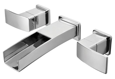 Pfister LG49-DF1C Kenzo Two Handle Wall Mount Lavatory Faucet Trim - Chrome