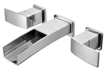 Price Pfister GT49-DF1C Kenzo Two Handle Wall Mount Lavatory Faucet Trim - Polished Chrome