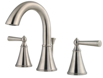 Price Pfister GT49-GL0K Saxton Two Handle Widespread Lavatory Faucet - Brushed Nickel