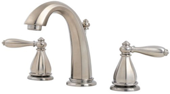 Price Pfister GT49-RP0K Portola Collection Widespread Lavatory Faucet - Brushed Nickel