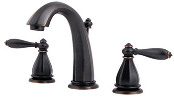Price Pfister GT49-RP0Y Portola Two Handle Widespread Lavatory Bathroom Faucet - Tuscan Bronze