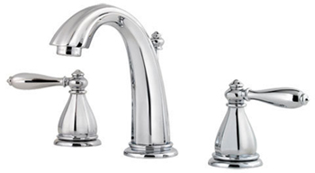 Price Pfister GT49-ST0C Santiago 3 Hole Widespread Lavatory Faucet - Polished Chrome