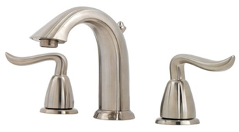 Price Pfister GT49-ST0K Santiago Two Handle Widespread Lavatory Faucet - Brushed Nickel