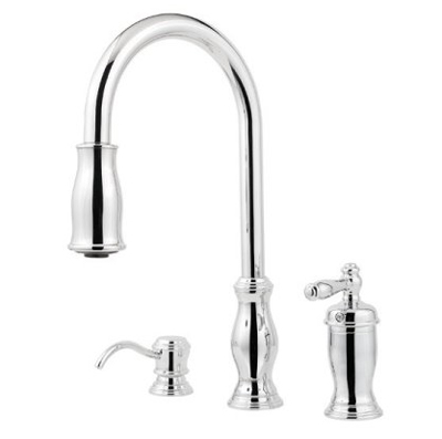 Pfister GT526-TMC Hanover Single Handle Pull Down Kitchen Faucet - Chrome
