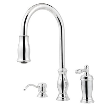 Price Pfister GT526-TMC Hanover Single Handle Pull Down Kitchen Faucet - Chrome