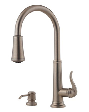 Price Pfister GT529-YPE Ashfield Single Handle Pull Down Kitchen Faucet - Rustic Pewter