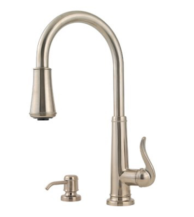 Pfister GT529-YPK Ashfield Single Handle Pull Down Kitchen Faucet - Brushed Nickel