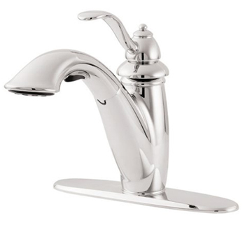Price Pfister GT532-7CC Marielle Collection Pull Down Kitchen Faucet - Polished Chrome