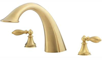 Price Pfister RT6-E0XF Catalina Roman Tub Trim - Brushed Brass