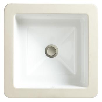 Porcher 12080.00.001 Marquee Square Undercounter Lavatory Basin White
