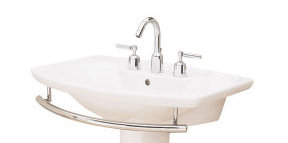 Porcher 20408.00.001 L'Expression Lavatory Pedestal Basin Only White