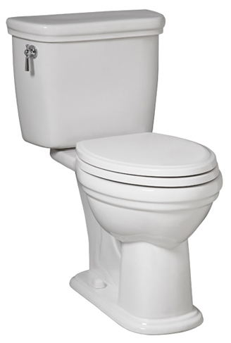 Porcher 40290.00.001 Calla II Elongated Toilet Bowl Only White