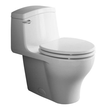 Porcher 97220.00.071 Veneto II One Piece Toilet Biscuit