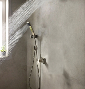 Price Pfister 016-2DFK Kenzo Wall Mounted Handshower and Diverter Trim Brushed Nickel