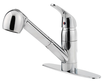 Price Pfister G133-10CC Pfirst Single Handle Pull-out Kitchen Faucet - Chrome