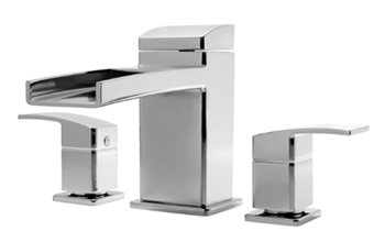 Pfister RT6-5DFK Kenzo Two-Handle Roman Tub Faucet Trim Brushed Nickel (Pictured in Chrome)