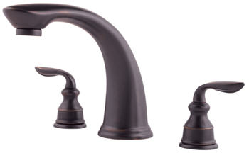 Price Pfister RT6-5CBY Avalon Two-Handle Roman Tub Faucet Trim Tuscan Bronze (Less Handles)