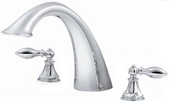 Price Pfister RT6-5EXC Catalina Two-Handle Roman Tub Faucet Trim Chrome (Less Handles)