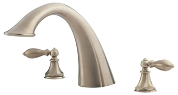 Price Pfister RT6-5EXK Catalina Two-Handle Roman Tub Faucet Trim Brushed Nickel (Less Handles)