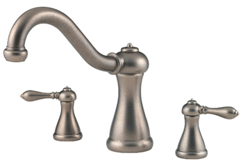 Price Pfister RT6-5MXE Marielle Two-Handle Roman Tub Faucet Trim Rustic Pewter (Less Handles)